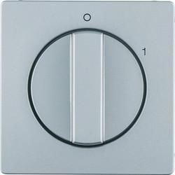 Berker draaiknop driestandenschakelaar 0-1 Q1/Q3/Q7 aluminium (11506084)