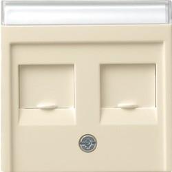 GIRA centraalplaat modular jack 2-voudig Systeem 55 creme glans (066301)