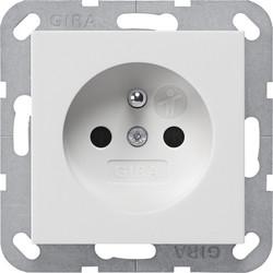 GIRA wandcontactdoos penaarde (Belgie) Systeem 55 wit glans (048503)