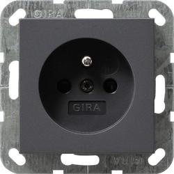 GIRA wandcontactdoos penaarde (Belgie) Systeem 55 antraciet mat (048528)
