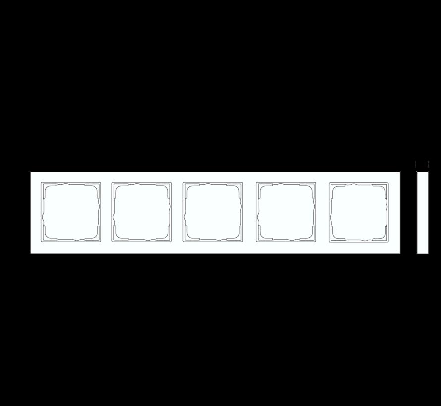 afdekraam 5-voudig horizontaal tekstkader E2 wit mat (109522)