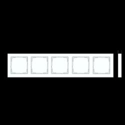 GIRA afdekraam 5-voudig horizontaal tekstkader E2 wit glans (109529)