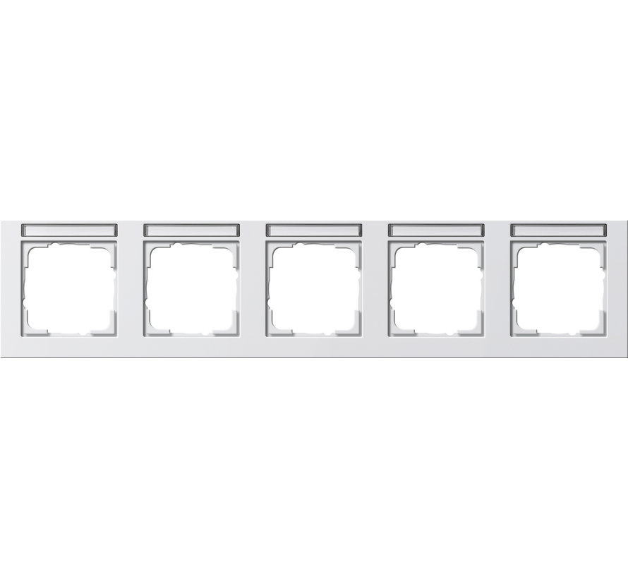 afdekraam 5-voudig horizontaal tekstkader E2 wit glans (109529)