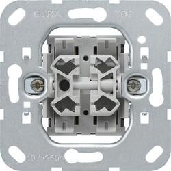 GIRA combinatie wisselschakelaar/drukcontact (013900)