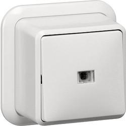 GIRA wisselschakelaar controleverlichting opbouw wit (011611)