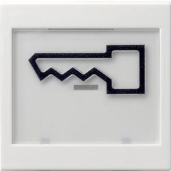 GIRA schakelwip tekstkader groot symbool deur Systeem 55 wit mat (021827)