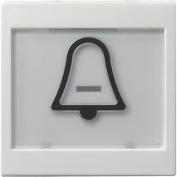 GIRA schakelwip tekstkader groot symbool bel Systeem 55 wit mat (021727)