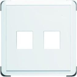 PEHA centraalplaat met draagplaat voor 2  keystone inzetten Standard levend wit (80.610/2.02 KEY)