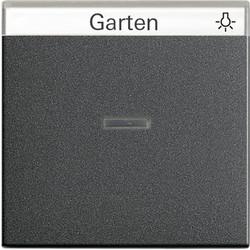 GIRA schakelwip controlevenster tekstkader Systeem 55 antraciet mat (067028)