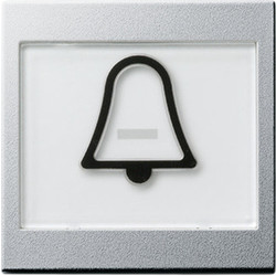 GIRA schakelwip tekstkader groot symbool bel Systeem 55 aluminium mat (021726)
