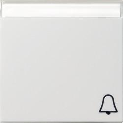 GIRA schakelwip tekstkader symbool bel Systeem 55 wit glans (067303)