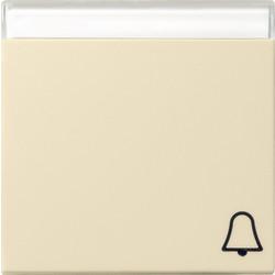 GIRA schakelwip tekstkader symbool bel Systeem 55 creme glans (067301)