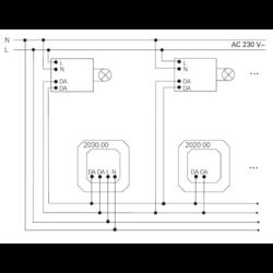 GIRA DALI-potentiometer Tunable White met geintegreerde netvoeding (203000)