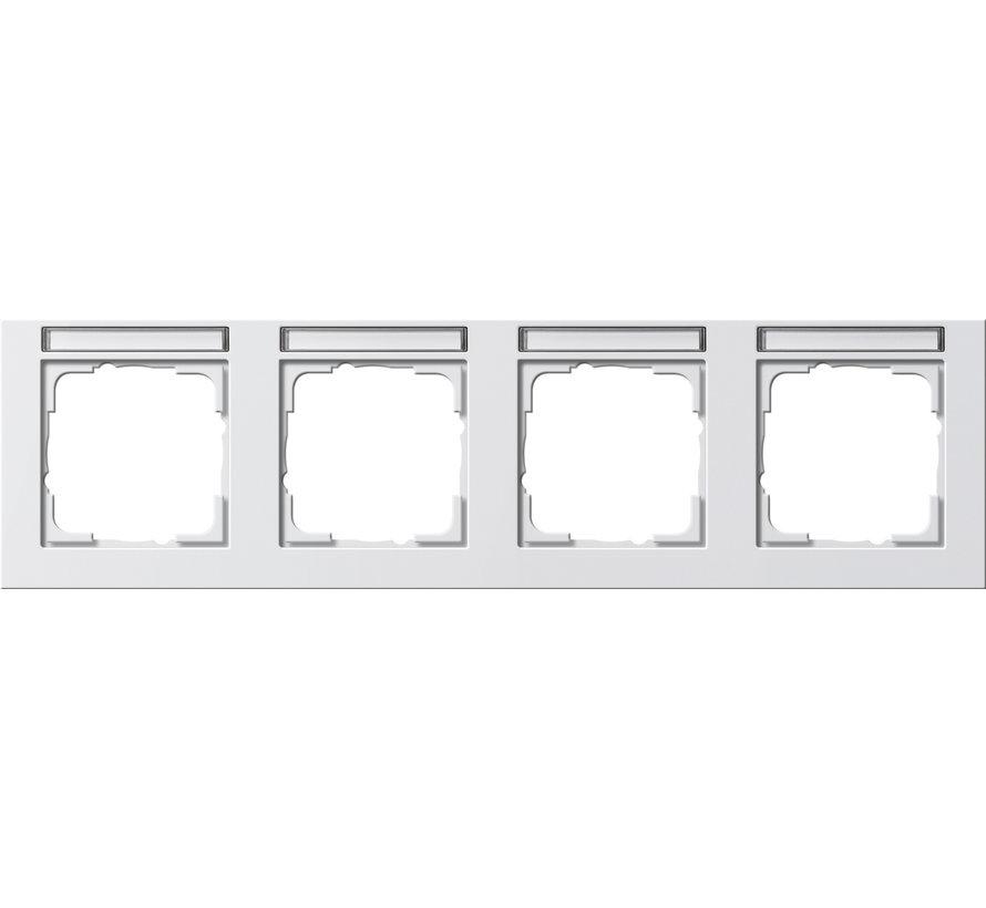 afdekraam 4-voudig horizontaal tekstkader E2 wit mat (109422)
