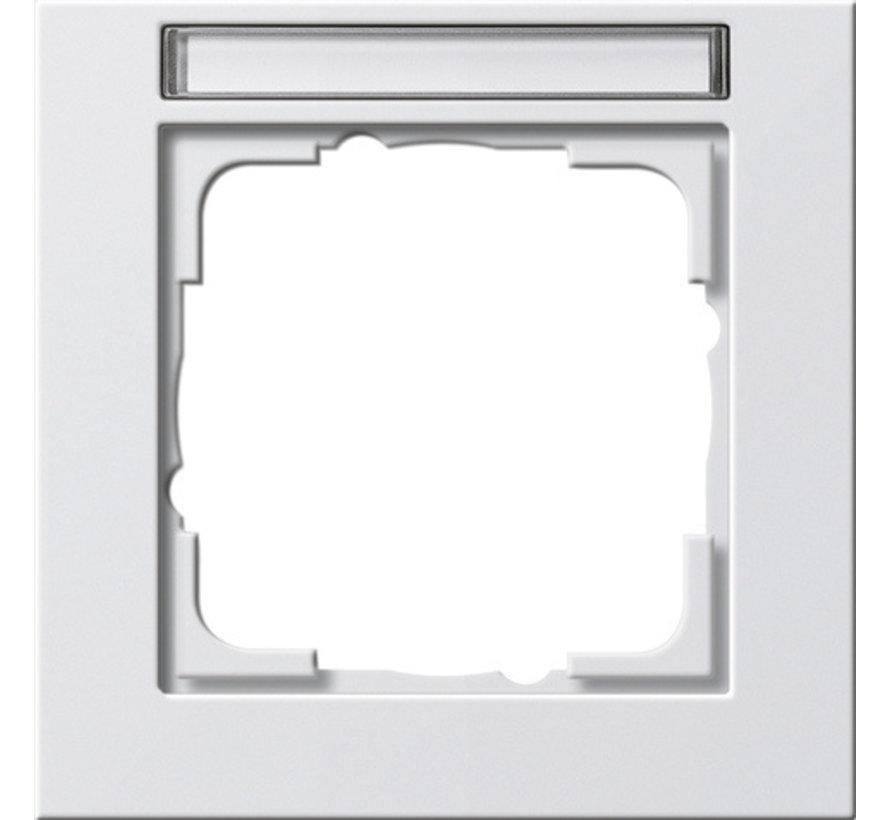 afdekraam 1-voudig tekstkader E2 wit glans (109129)