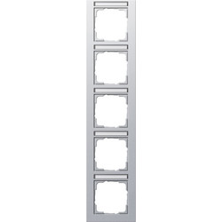 GIRA afdekraam 5-voudig verticaal tekstkader E2 aluminium mat (111525)