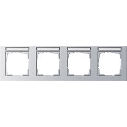 GIRA afdekraam 4-voudig horizontaal tekstkader E2 aluminium mat (109425)