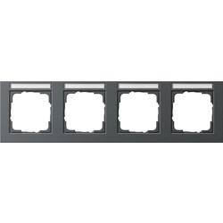 GIRA afdekraam 4-voudig horizontaal tekstkader E2 antraciet mat (109423)