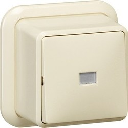 GIRA pulsdrukker wisselcontact 1-polig opbouw creme (015610)