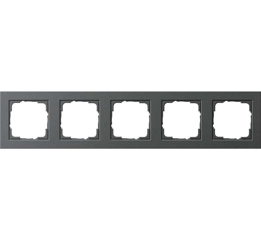 afdekraam 5-voudig E2 antraciet mat (021523)