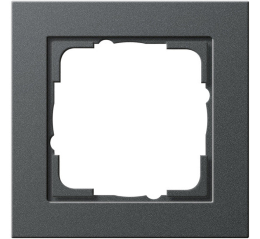 afdekraam 1-voudig E2 antraciet mat (021123)