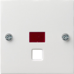 GIRA centraalplaat trekschakelaar controlevenster Systeem 55 wit mat (063827)