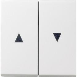 GIRA schakelwip jaloezieschakelaar 2-voudig Systeem 55 wit mat (029427)