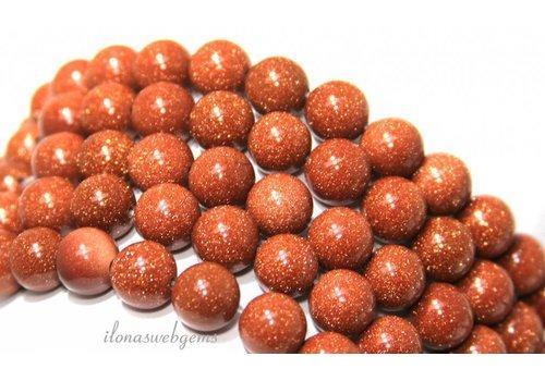 Goldstone beads gold around 12mm