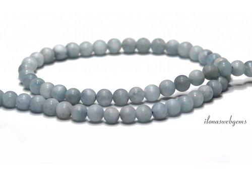 Aquamarine beads mat around approx. 6mm AA quality