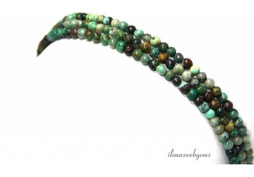 Chrysokoll Perlen um ca. 3,5 mm