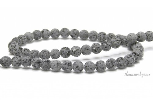 Lavastone beads anthracite gray around 6mm