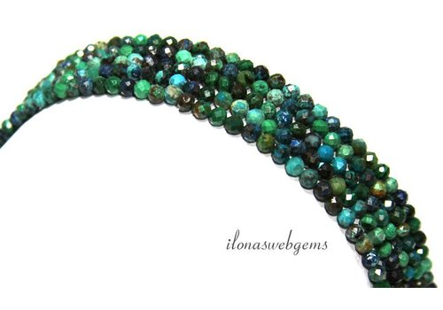 Chrysocolla beads facet around 3.3mm