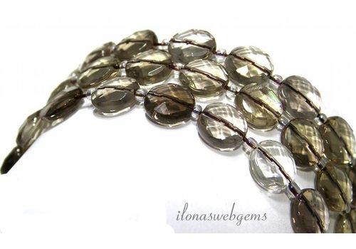 Smoky quartz beads facet about 12x6mm