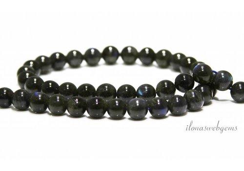 Labradorite beads dark around 6.5mm