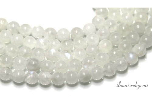Rainbow moonstone beads around 7.3mm