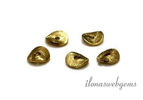 Vermeil chips brushed approx. 6mm