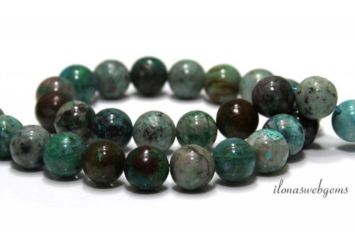 Chrysocolla beads 12mm