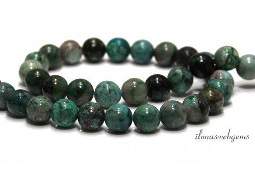 Chrysocolla beads 9.8mm