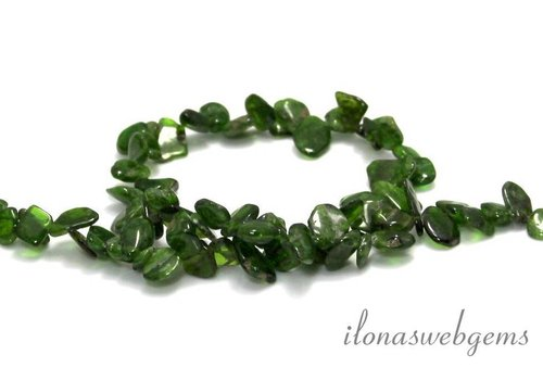 Diopside beads side drill app. 12x3mm
