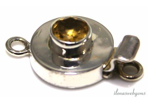Sterling silver box lock with Lemon Quartz