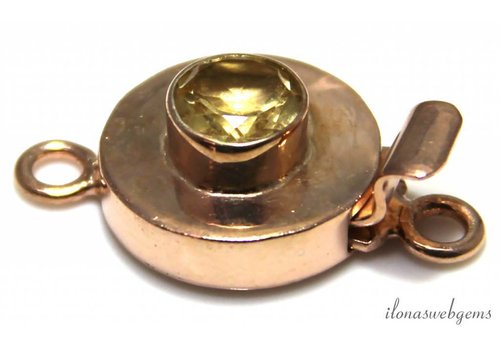 Rosé vermeil bowllock with Lemon Quartz