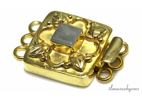 Vermeil box lock with Aventurine