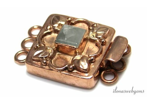 Rosé Vermeil tray with Aventurine