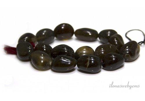 Onyx beads 23x17mm