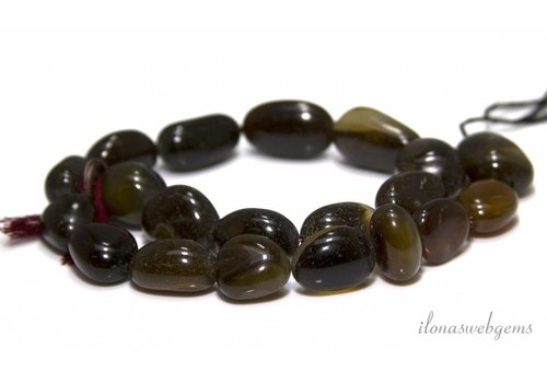Onyx beads about 22x16mm