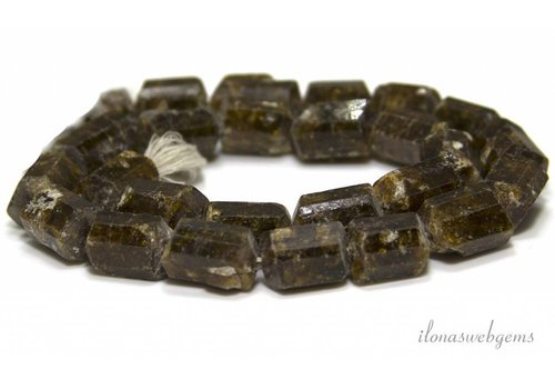 Tourmaline beads around 14x9mm