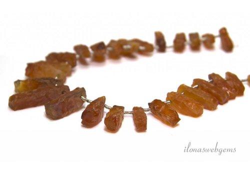 Antique carnelian beads approx. 16x4mm