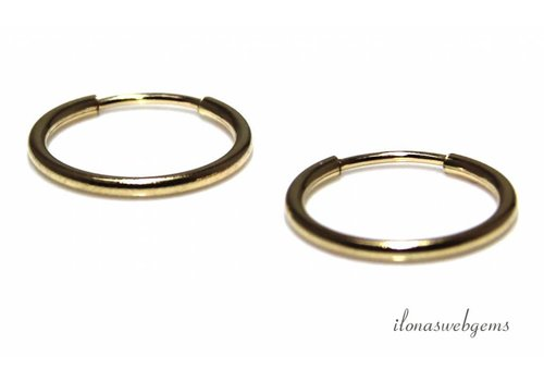 1 pair of Gold filled creoles