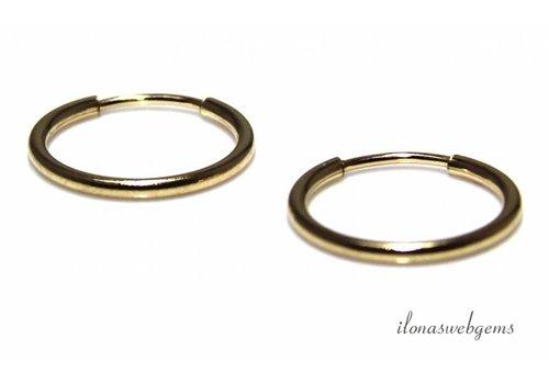 1 Paar goldgefüllte Kreolen