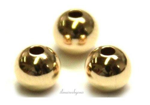 14 karaat gouden kraaltje ca. 4mm